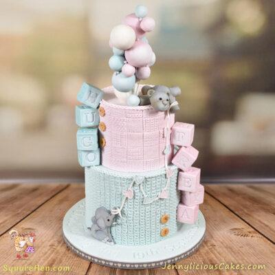 Dual Christening Cake