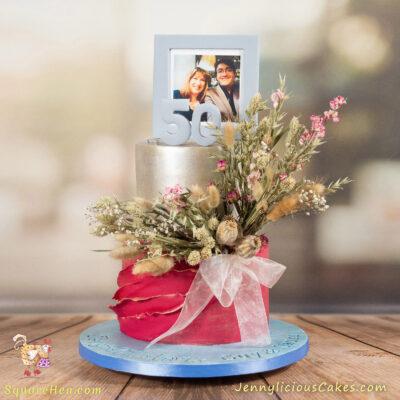 Dried Floral Wedding Cake