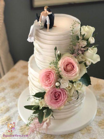 Rainbow Wedding and Roses